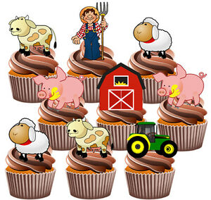 Image Is Loading Farmyard Tractor Party Pack Birthday Cake Decorations 36