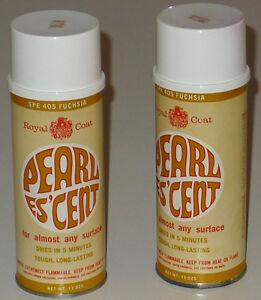 Pearles 39 Cent Vintage Spray Paint Mod Retro 1960s Metallic Fuchsia Pink 2 Cans Ebay