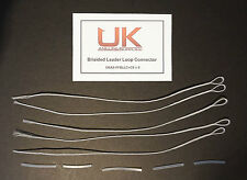 Qty x 5 UK Angling Supplies Fly Fishing Braided Leader Loop + Clear Sleeve