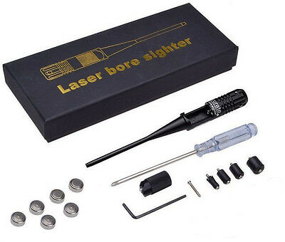 Red Laser Dot Bore Sighter Kit for .22 to .50 Rifles Caliber Handgun