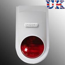 WIRELESS WEATHERPROOF EXTERNAL FLASH LED STROBE SIREN FOR AUTODIAL GSM ALARM