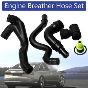 Respiradero-del-Carter-Motor-6x-Negro-Manguera-Tubo-Set-Para-VW-Golf-Jetta-AUDI-TT-1-8T