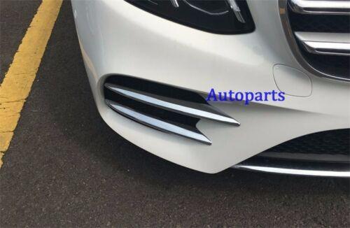 Chrome Fog light grille vent cover trim Mercedes-Benz E-CLASS W213 2016 2017
