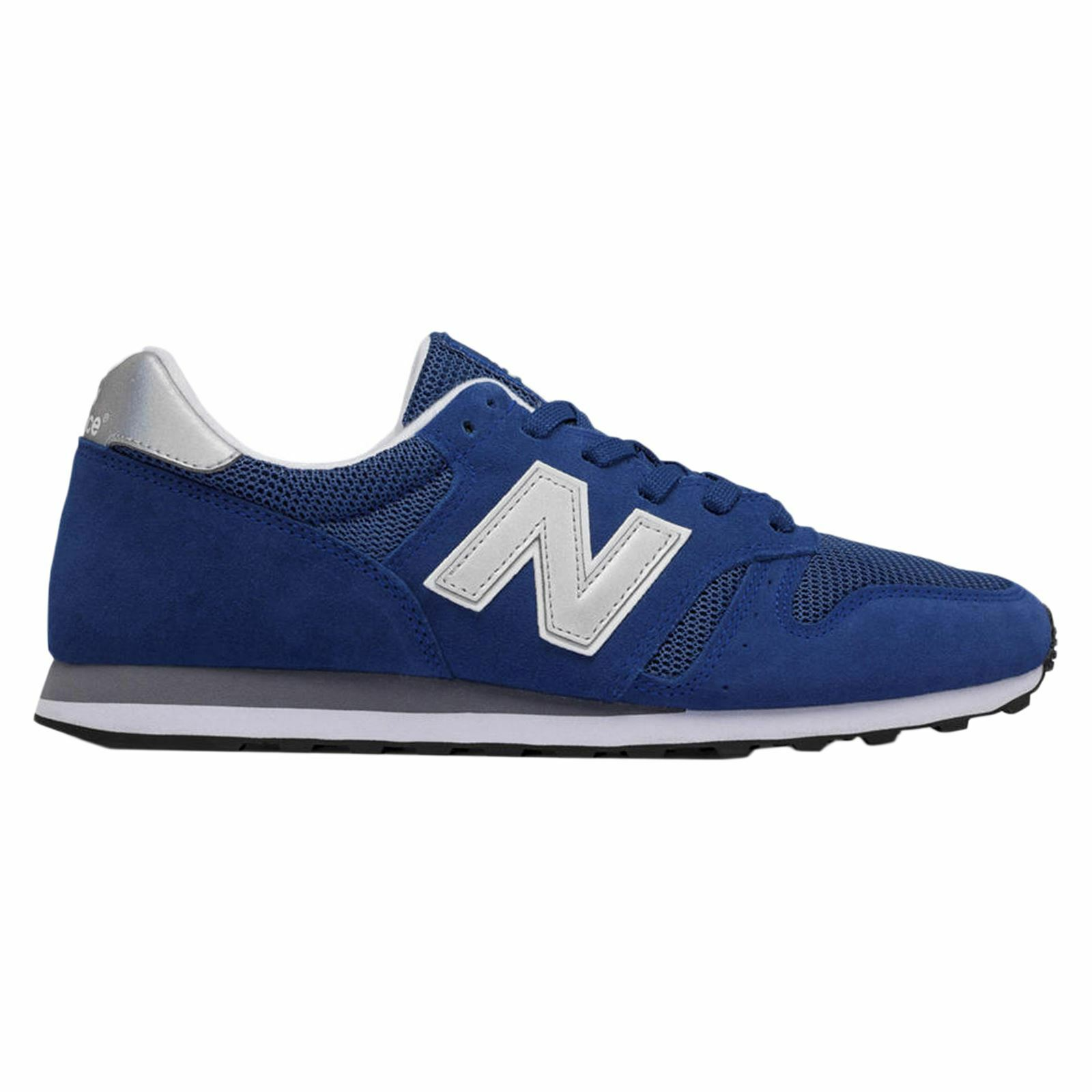 New Balance 373 bluee Mens Suede Mesh Low Top Trainers