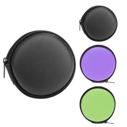Mini Round EVA Case Headphone Bluetooth Earphone Cable Storage Box JF#E