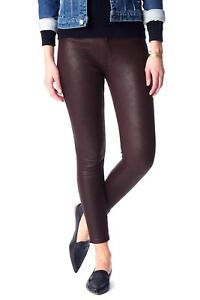 7-For-All-Mankind-Faux-Leather-Knee-Seam-Skinny-in-Merlot-NWT-MSRP-199