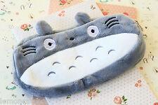 Totoro Bolsa De Pluma De Felpa De Dibujos Animados Kawaii Dibujos Animados Bolsa Bolso Maquillaje Embrague Escuela De Cremallera