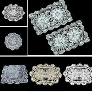 Vintage-de-encaje-algodon-Mantel-de-ganchillo-Casa-Tapete-Estera-cubierta-Tapetes-De-Mesa-De-Comedor