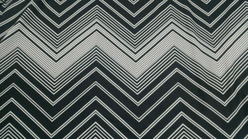 ZIG ZAG PRINTED STRETCH JERSEY LYCRA FABRIC-SOLD BY THE METER