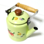 thumbnail 10 - Green-enamelware-pot-camping-coffee-Tea-Kettle-Vintage-enamel-cookware
