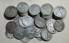 Lot of 10 Walking Liberty Half Dollars (Random Dates 1917-1939) - Free Shipping!