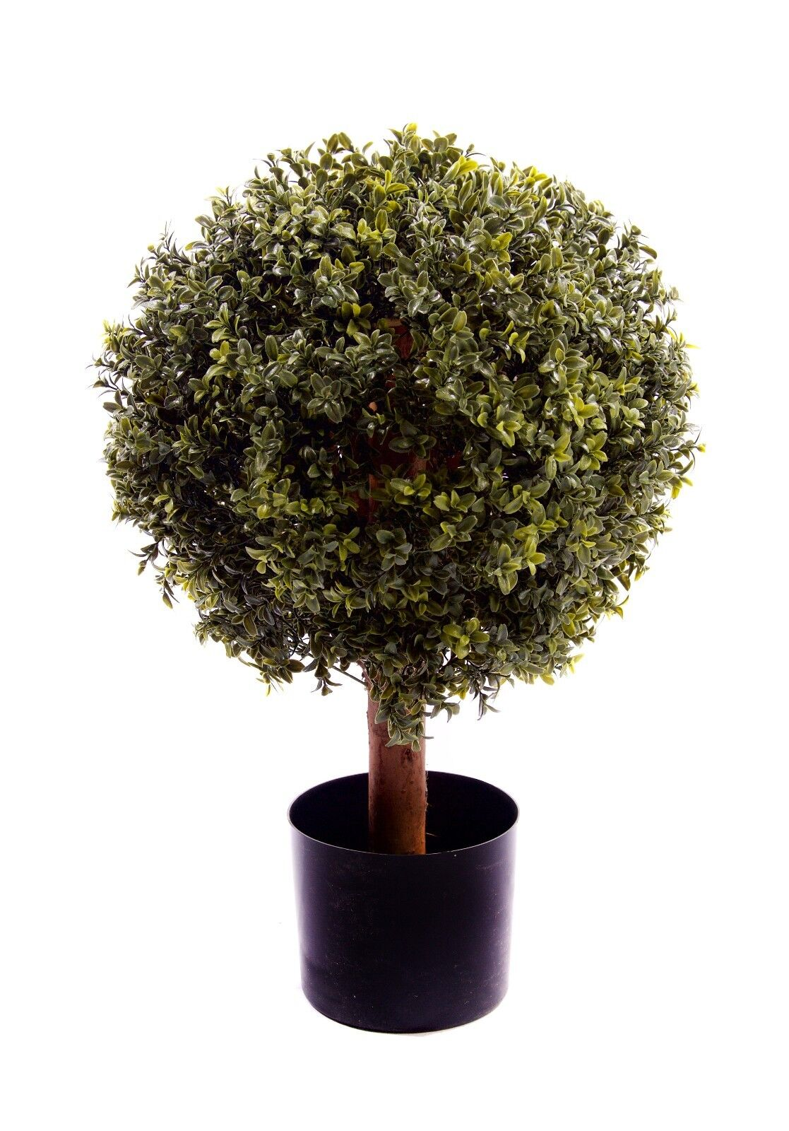 Best Artificial NATURAL Look 60cm 2ft BOXWOOD Topiary Single BALL Wood TREE
