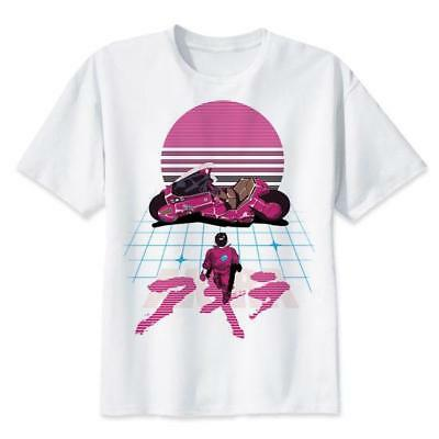Akira Shotaro Kaneda Motorcycle Synthwave Aesthetic T Shirt Anime Manga Movie