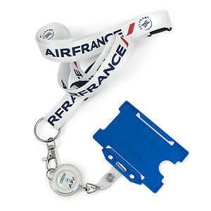 AIR FRANCE LOGO WHITE LANYARD SET