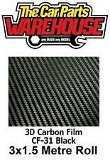 Calidad Premium Easyfit Envoltura 3D De Fibra De Carbono/Vinilo libre de burbujas 3M X 1.52M Roll