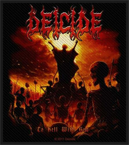 """Deicide To Hell With God Woven Sew On Patch 3.75/"""" x 4/"""""""