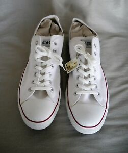 Details about Converse All Star Ox Low top Sneakers Canvas Trainers Optical White size 17