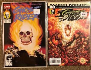 MARVEL-COMICS-GHOST-RIDER-Volume-3-18-and-KNIGHTS-2-comic-book-set-blaze