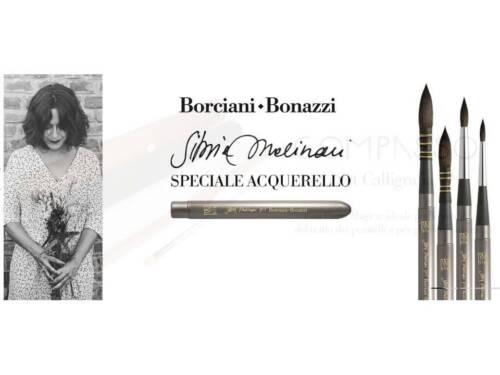 Pennello acquerello serie 700 in filato sintetico cavo Borciani Bonazzi