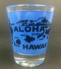Hawaiian Aloha Hawaii Cordial Shot Glass Souvenir Islands Hula Skirt Tiki Bar NB