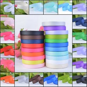 Grosgrain-Ribbon-Roll-25-Yards-10-15-25-38mm-Wide-Party-Wedding-Gift-Handcrafts