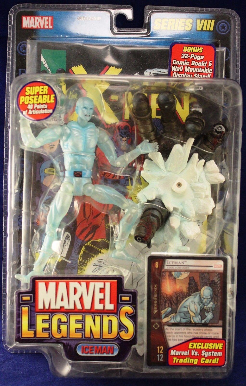 Marvel - legenden spielzeug - biz - serie 8 viii iceman bobby drake action - figur toybiz