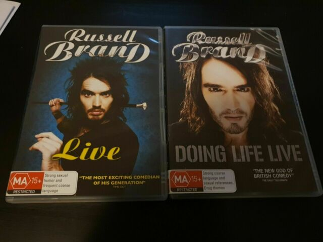 2x Russell Brand DVD's Live & Doing Life Live Comedy