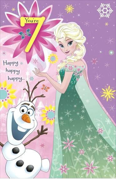 Disney frozen birthday cards or gift wrap age 4 5 6 7 anna elsa disney frozen birthday cards or gift wrap age 4 5 6 7 anna elsa girls greetings youre 7 192 ebay m4hsunfo
