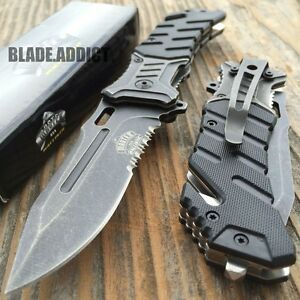 """8"""" BALLISTIC MILITARY Tactical Combat Spring Assisted Open Pocket Rescue Knife B"""
