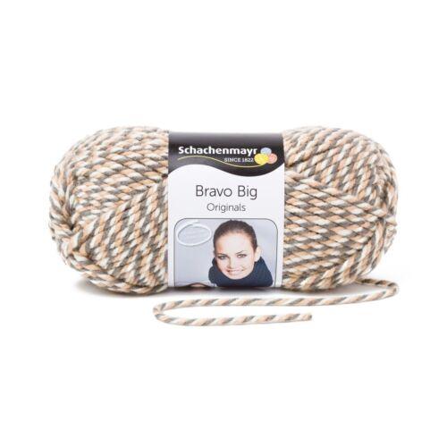 120 m Wolle 00183 BRAVO BIG von Schachenmayr - 200 g // ca GRANIT MOULINE
