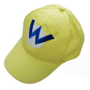 4b1e250e5cf Super Mario Bros Wario Bad Mario W Letter Cap Sport Baseball Hat ...