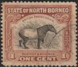 NORTH-BORNEO-1925-1c-MALAYAN-TAPIR-USED-B