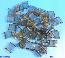 LEGO® 1x2x2 Fenster / Glas transparent  rauch / 50 Stück