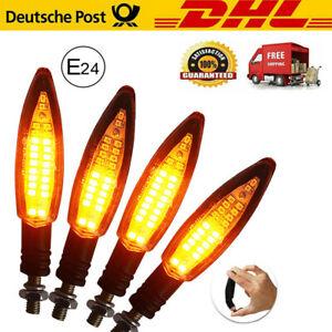 4x-LED-Motorrad-Mini-Blinker-12V-Sequentiell-Lauflicht-E-24-Pruefzeichen-DE