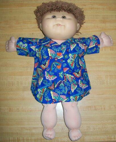 """BLUE BUTTERFLY BUTTERFLIES BIG SHIRT DRESS for 16-18-20/"""" CPK Cabbage Patch Kids"""