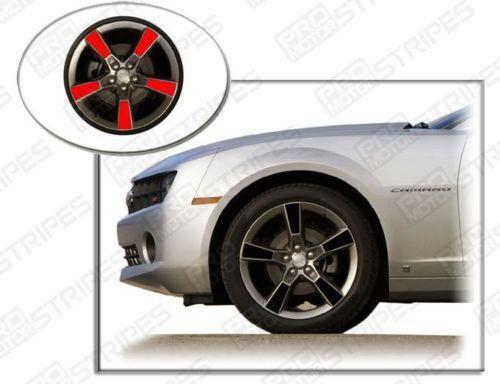 "Chevrolet Camaro 20/"" Wheels Insert Overlay Stripes Decals 2014 2015 Pro Motor"