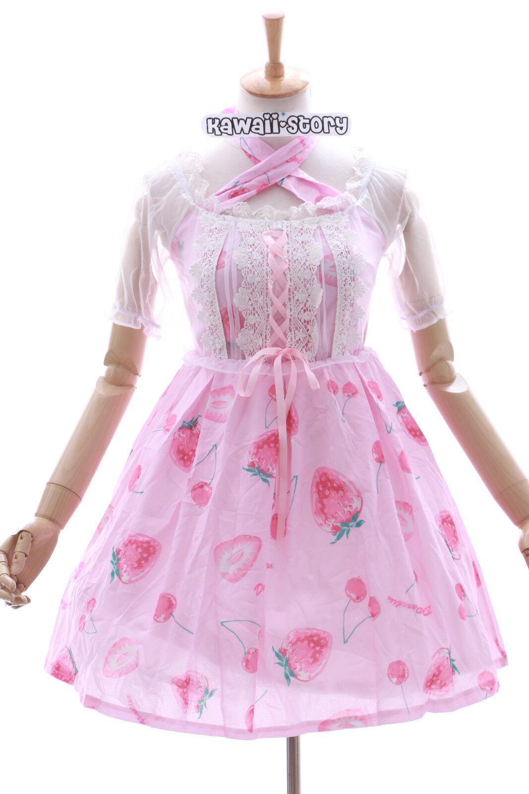 CB-01 Fraise FRAISE CERISE stretch rose rose rose robe lolita gothique costume cosplay 572717