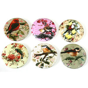 Pretty-Birds-and-Floral-Illustrations-FRIDGE-MAGNETS-Set-55mm-6pc