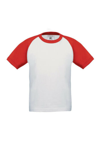 B/&C Collection Contrast Kids Baseball Sports Wear Short Sleeves Top T-Shirt New