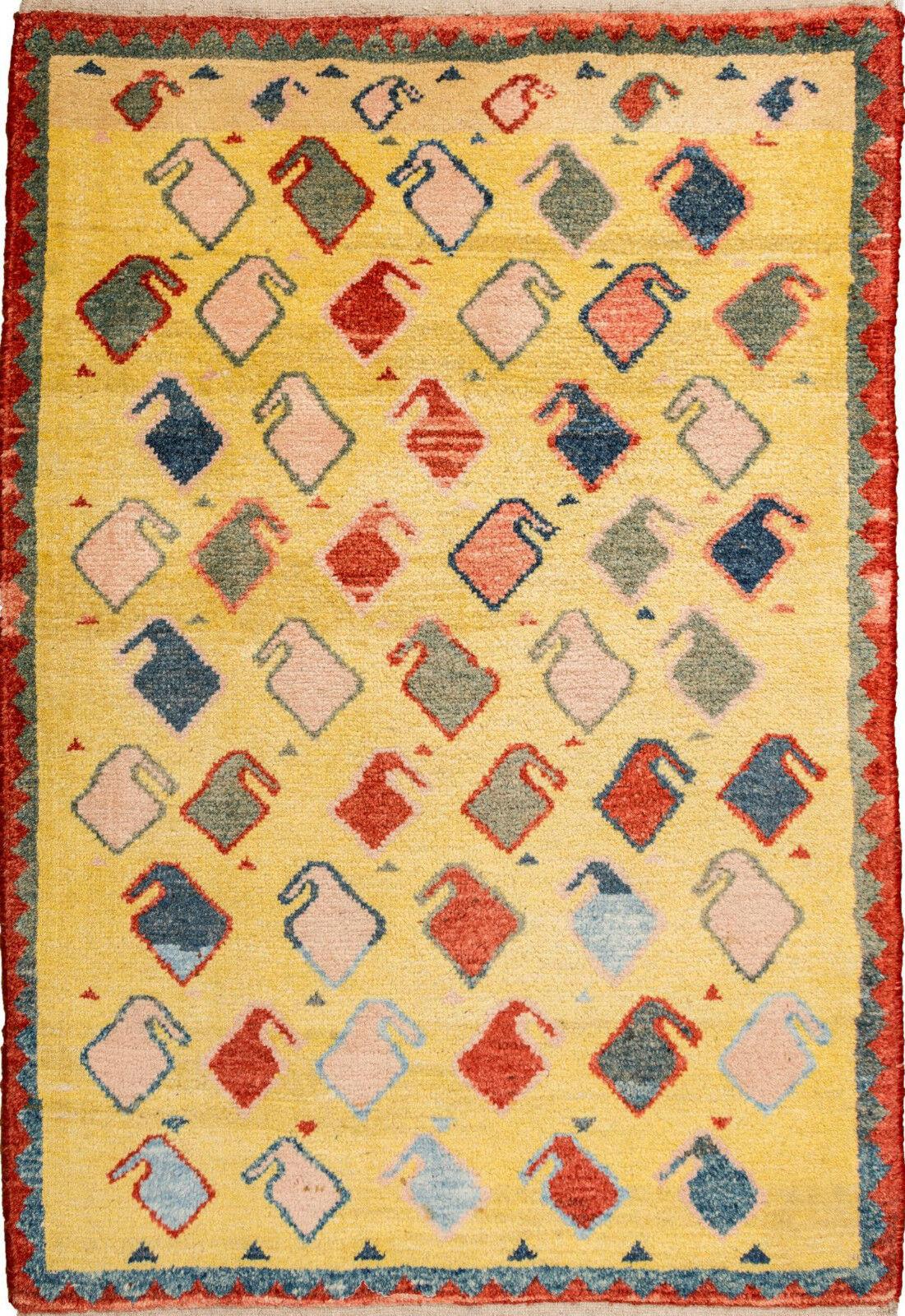 Gabbeh Tappeto Orientale Tappeto Rug Carpet parte di Tapis tapijt Tappeto Alfombra Boteh RAR
