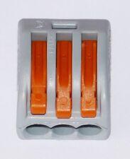 3-polig 50 Stück Verbindungsklemme WAGO 222-413