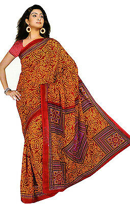 Chiffon Bollywood Carnaval sari Orient Inde fo304