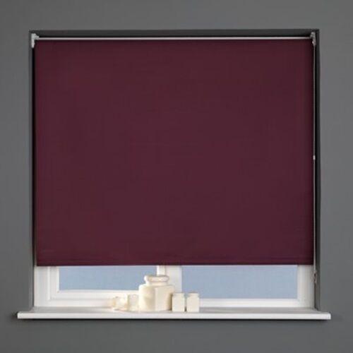 Straight Edge Mauve 180cm Sunlover PLAIN Quality Roller Blinds Widths 60cm