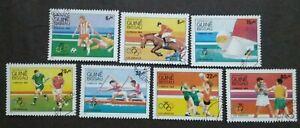 Guine-Bissau-1984-Olympic-Games-Los-Angeles-USA-7v-Used