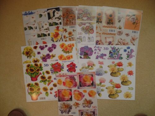 10 Le Suh step by step  decoupage All different. Flowers