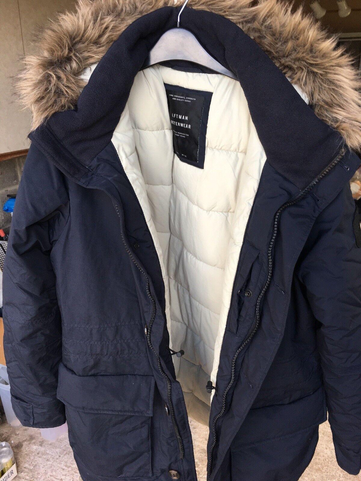 Herren Lefties Outerwear Coat With Fur  Hood Größe L