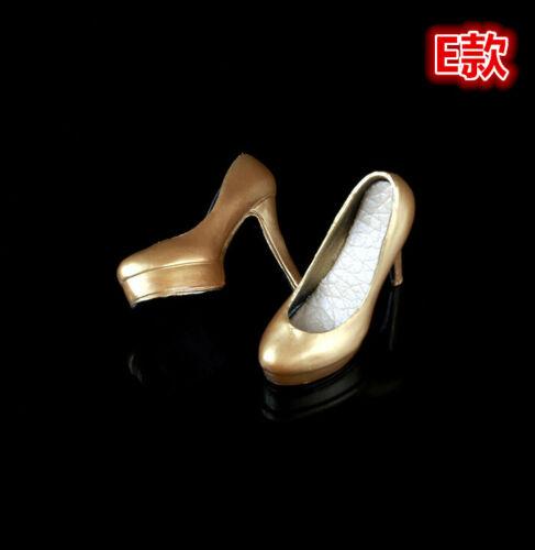 """1//6 12/"""" modello BB Bambola Phicen Donna Scarpe Col Tacco Alto B"""