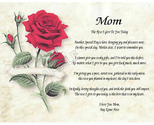 MOM-ROSE-I-GIVE-TO-YOU-PERSONALIZED-ART-POEM-MEMORY-BIRTHDAY-MOTHER-039-S-DAY-GIFT