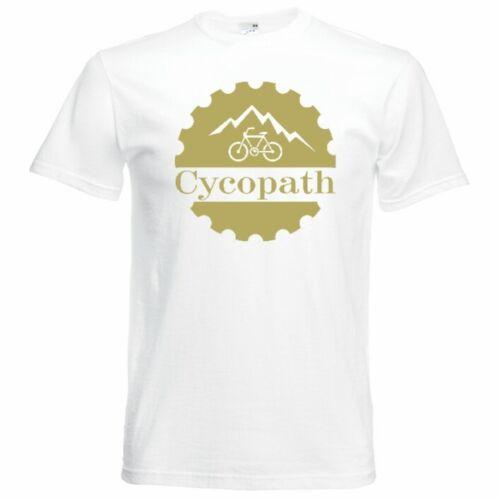 Cycopath Funny Cycling T-Shirt Mens Unisex Small-5XL