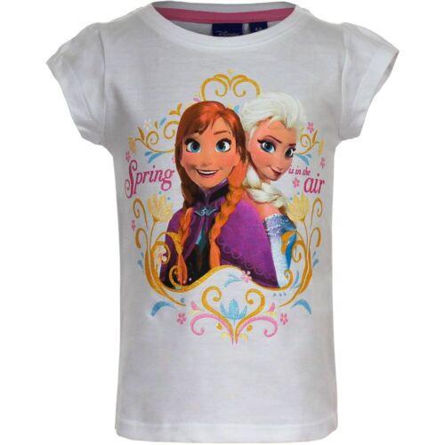 Disney die Eiskönigin Elsa Anna Frozen Kurzarm T-Shirt Weiß